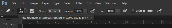 eraser toolbar in photoshop